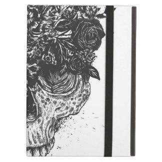 My head is a jungle (blackandwhite) iPad air case