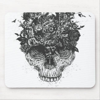 My head is a jungle (blackandwhite) mouse mat