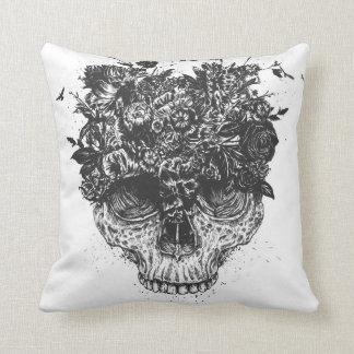 My head is a jungle (blackandwhite) throw pillow
