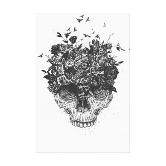My head is a jungle (bw) canvas print