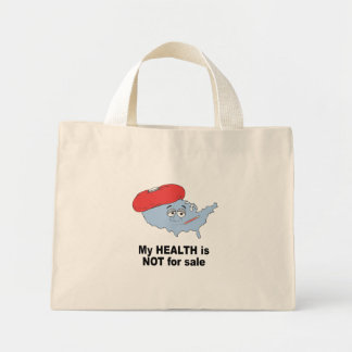 My health is not for sale canvas bag