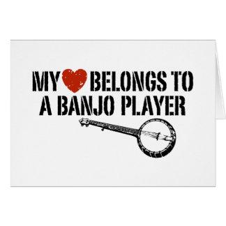 My Heart Banjo Player Greeting Card