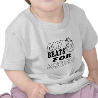 My Heart Beats For Botswana. Tee Shirt