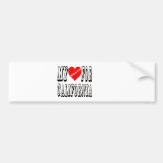 My Heart Beats For CALIFORNIA. Bumper Stickers