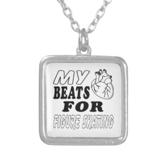 My Heart Beats For Figure Skating. Custom Necklace