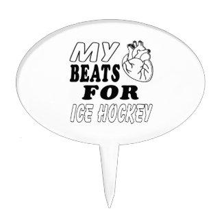 My Heart Beats For Ice Hockey. Cake Topper