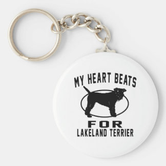 MY HEART BEATS FOR Lakeland Terrie Basic Round Button Key Ring