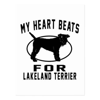 MY HEART BEATS FOR Lakeland Terrie Postcard