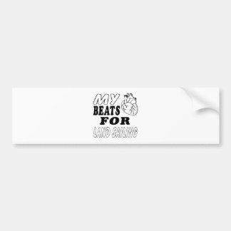 My Heart Beats For Land Sailing. Bumper Sticker