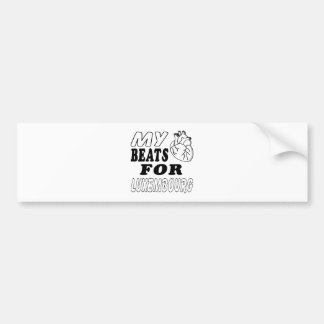 My Heart Beats For Luxembourg Bumper Stickers