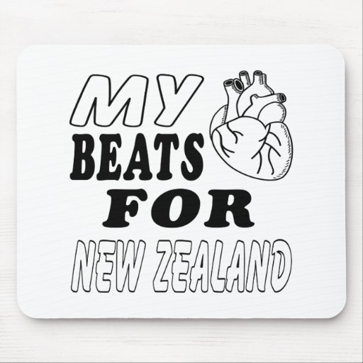 My Heart Beats For New Zealand. Mouse Pads