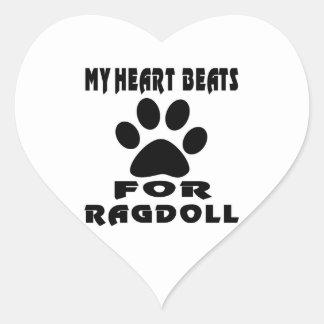 My Heart Beats For RAGDOLL Heart Sticker