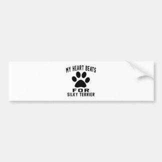 MY HEART BEATS FOR Silky Terrier Bumper Sticker