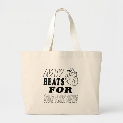 My Heart Beats For Stunt Plane Flying. Tote Bag
