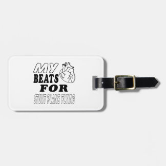 My Heart Beats For Stunt Plane Flying. Bag Tag