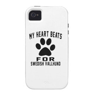 MY HEART BEATS FOR Swedish Vallhund iPhone 4 Cases
