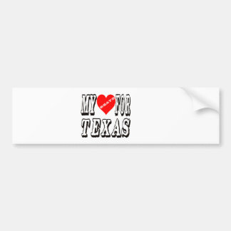 My Heart Beats For TEXAS. Bumper Stickers