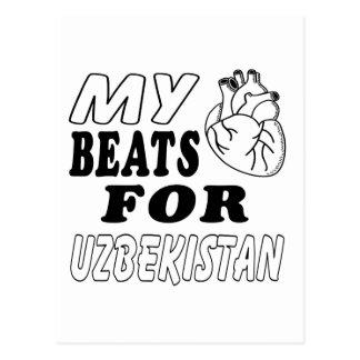 My Heart Beats For Uzbekistan. Postcard