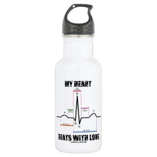 My Heart Beats With Love (Electrocardiogram ECG) 532 Ml Water Bottle