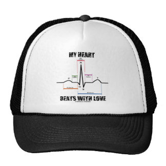 My Heart Beats With Love (Electrocardiogram) Hats