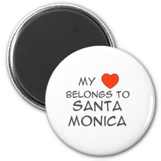 My Heart Belongs 6 Cm Round Magnet