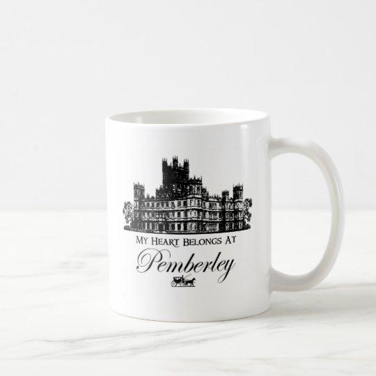 My Heart Belongs At Pemberley Coffee Mug