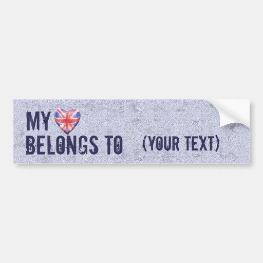 My Heart Belongs Bumper Stickers