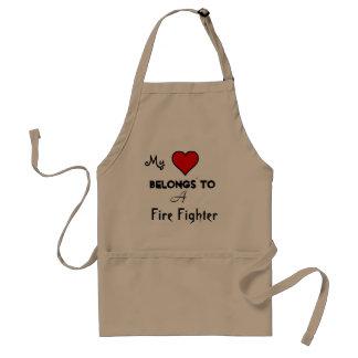 My heart Belongs Fire Fighter Standard Apron