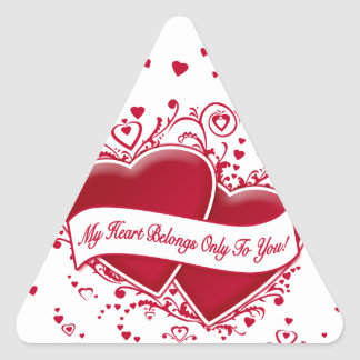 My Heart Belongs Only To You! Red Hearts Sticker