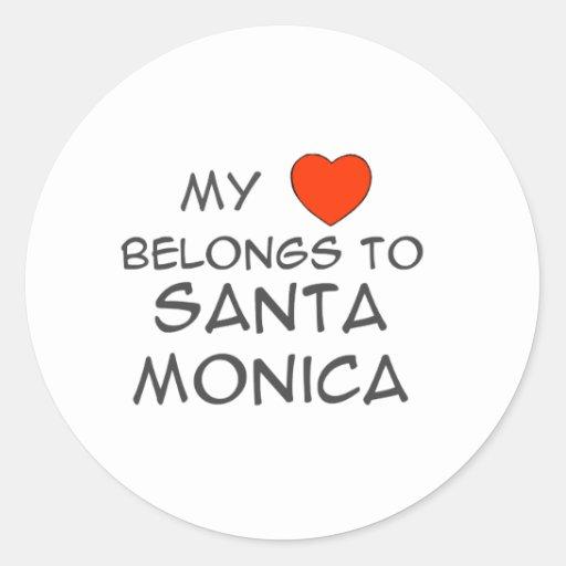 My Heart Belongs Round Sticker