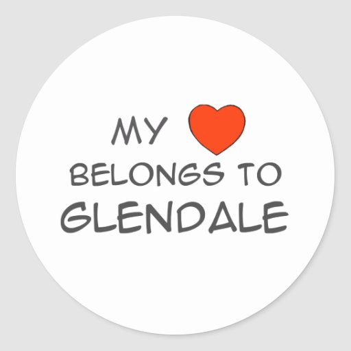 My Heart Belongs Sticker