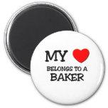 My Heart Belongs To A BAKER Refrigerator Magnets