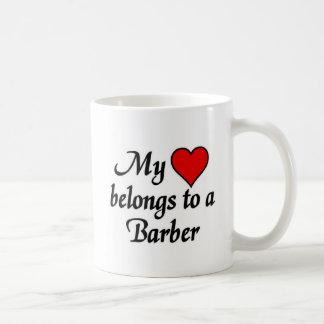 My heart belongs to a Barber Basic White Mug