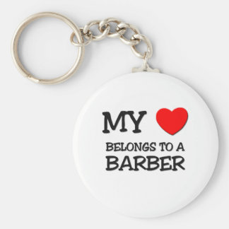 My Heart Belongs To A BARBER Key Chain