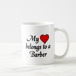 My heart belongs to a Barber Classic White Coffee Mug