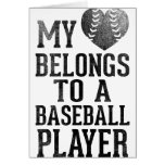 My Heart Belongs To A Baseball Player Greeting Cards