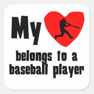 My Heart Belongs To A Baseball Player Stickers