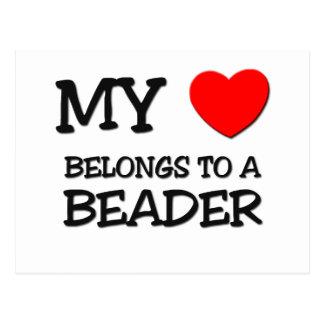 My Heart Belongs To A BEADER Post Cards