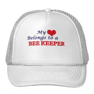 My heart belongs to a Bee Keeper Cap