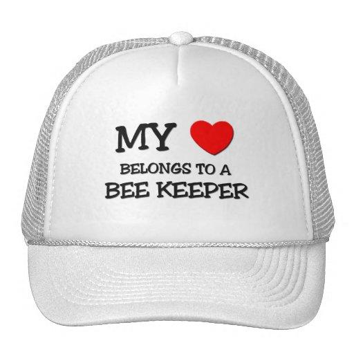 My Heart Belongs To A BEE KEEPER Mesh Hats
