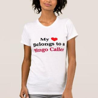 My heart belongs to a Bingo Caller T-Shirt