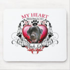 My Heart Belongs to a Black Lab Mouse Mat