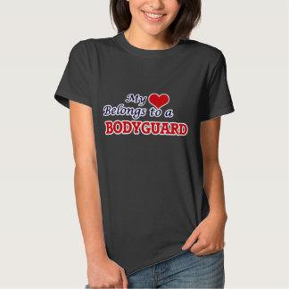 My heart belongs to a Bodyguard Tee Shirt