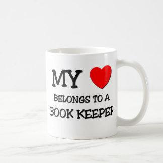 My Heart Belongs To A BOOK KEEPER Basic White Mug