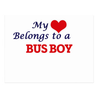 My heart belongs to a Bus Boy Postcard