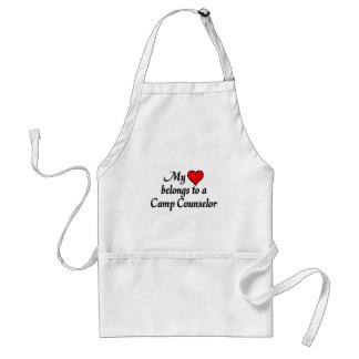 My heart belongs to a camp counselor standard apron