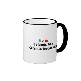 My heart belongs to a Ceramic Decorator Coffee Mug