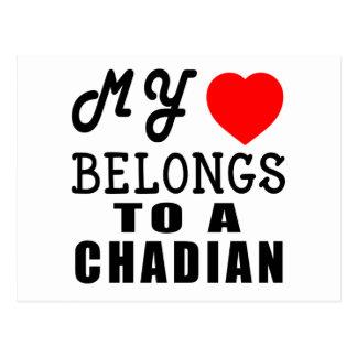 My Heart Belongs To A Chadian Postcard