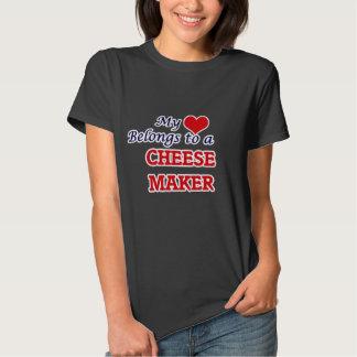 My heart belongs to a Cheese Maker T-shirts