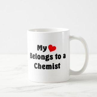 My heart belongs to a Chemist Coffee Mugs